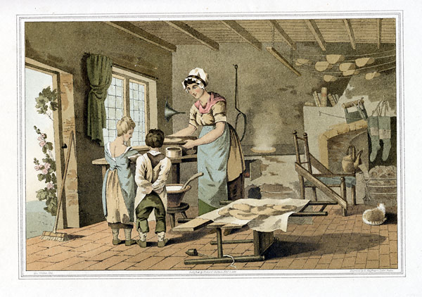 Woman Making Oat Cakes