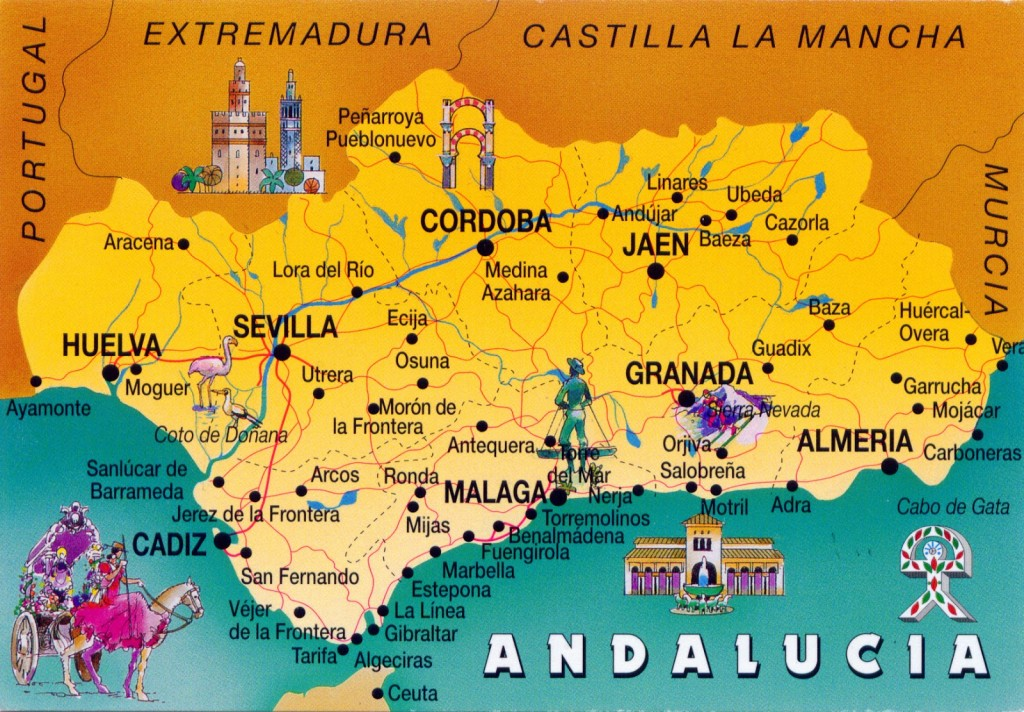 Andalucia map